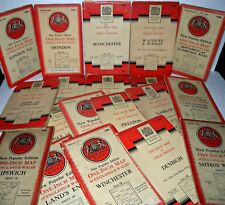 22 x National Grid, Ordnance Survey, One Inch maps, Various Places, & Dates
