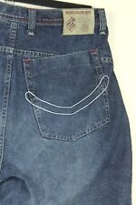 Rocawear Mens Indigo Wash Straight Leg Comfort Loose Fit Blue Jeans Size: 38X34