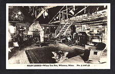 Winona Minnesota MN c1930/40s RPPC Winn Tee Pee Lodge Interior BIG WOW View!