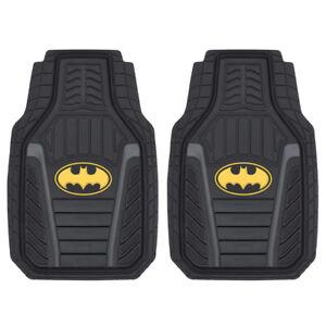 Batman Armored All-Weather Car Floor Mats Durable Black Front Set 2PC