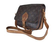 LOUIS VUITTON Cartouchiere MM Monogram Canvas Crossbody Shoulder Bag LS9091L