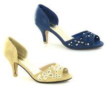 Zapatos de tacón de mujer peep toes color principal multicolor