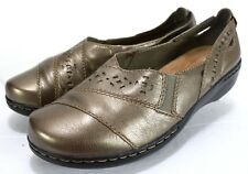 Clarks Evianna Fig4 $70 Women's Mary Janes Shoes Size 7.5 Leather Brown Bronze