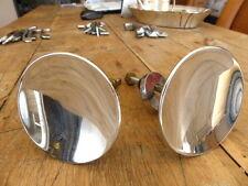 Superbe ancienne paire poignées ronde rosace métal chromé 80mm porte entrée