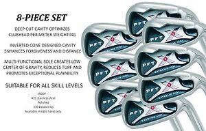 Big Tall XL XXL Iron Set New Mens Right Handed Custom +2 Stiff Steel Golf Clubs