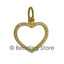 NEW Pandora Be My Valentine 14ct Gold Diamond Heart Pendant RRP$999 350177D