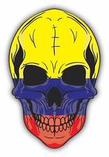 "Skull Flag Colombia Car Bumper Sticker 4"" x 5"""