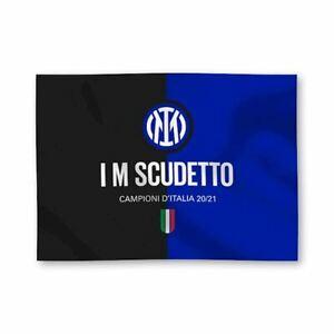 Bandiera Inter originale Nuovo Logo 2021 I M Scudetto 100x140 ufficiale