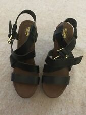 Womens Mossimo Supply Caitlin Black Quarter Strap High Heel Sandals Shoes NWOB C