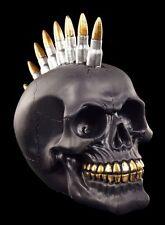 Negra Calavera con Cartuchos Iro - Black Bullet - Deco Figura Punk