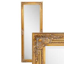 Wandspiegel barock Gold antik Design Spiegel Pompös Holzrahmen Leandos 140x50cm