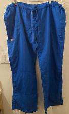 Womens Scrub Pants By Cherokee Style 4020 ~ Size 2Xl ~ Royal Blue