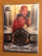 2014 Topps UFC Champions Commemorative Belt Plate relic card Demetrious Johnson