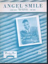 Angel Smile 1958 Nat King Cole Sheet Music