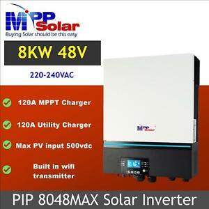 (MAX) 8000w Solar inverter 48v 230vac 120A MPPT solar charger PV input 500vdc