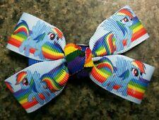 My little pony rainbow dash hair bow girl nonslip alligator clip