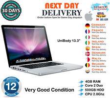 "Apple MacBook Pro 13.3"" intel Core 2 Duo 2.00GHz 4GB RAM 500GB HDD A1278 B Grade"