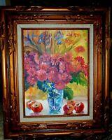 Mariusz Idkowiak Painting Flowers in Vase French Impression