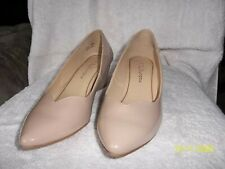 CL by Laundry Women's Nima Closed Toe Wedge Heel Pumps, size 7 1/2M, beige color