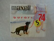 5pack Brand New MAXELL burari MD74 Minidisc - Factory sealed