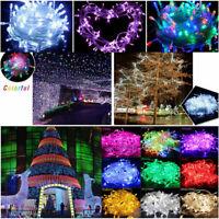 10M String 100 LED Christmas Tree Fairy Party Lights Lamp Xmas Decor Waterproof