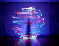 1 Pair LED POI Thrown Ball for Professional Belly Dance Dancing Level Hand Props