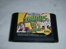 SEGA GENESIS GAME ZOMBIES ATE MY NEIGHBORS CARTRIDGE ONLY CART JVC X EYE NOMAD >