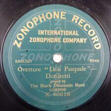 """78 Rpm la banda de diamantes negros la obertura """"Don Pasquale"""" de Donizetti"""