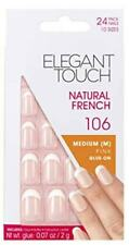 Elegant Touch Natural French Medium Pink Glue-on Nails 24pc 10 Sizes