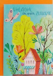 """Mila Marquis Postkarte""""Viel Glück im neuen Zuhause""""Umzug*Haus*Heim incl.Umschlag"""