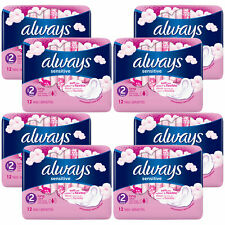 Always Sensitive Sanitary Towels, Long Ultra/Night Ultra/Normal Ultra, 8/10 Pack