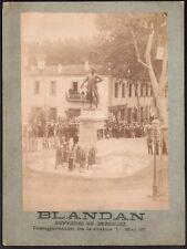 Algérie. Inauguration de la statue de Blandan. Boufarik. 1 mai 1887