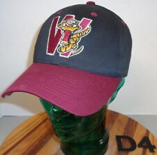 YOUTH WISCONSIN TIMBER RATTLERS HAT BLACK/BURGUNDY STRAPBACK VGC C11