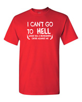 Hell Restraining Order Sarcastic Cool Graphic Gift Idea Adult Humor Funny TShirt