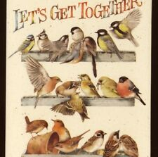 "PARTY INVITATION,BIRDS MARJOLEIN BASTIN ""LET'S GET TOGETHER"" GREETING,CARD"