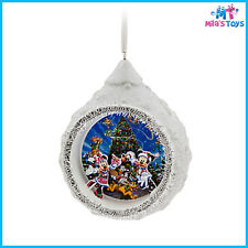 Disney Mickey and Minnie Mouse Santa Diorama Christmas Ornament brand new