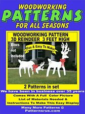 3D REINDEER 3 FEET HIGH CHRISTMAS WOODWORKING PATTERN yard art  patternsrus.com