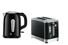 Russell Hobbs Black Kettle And 2 Slice Toaster