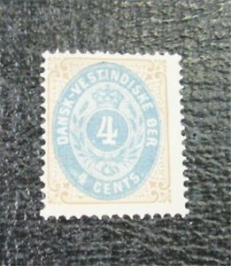 nystamps US Danish West Indies Stamp # 7B Mint OG H $225   J22x1096