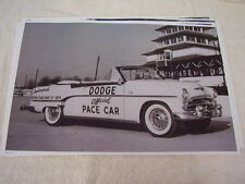 1954  DODGE  CONVERTIBLE INDY 500 PACE CAR  11 X 17  PHOTO /  PICTURE
