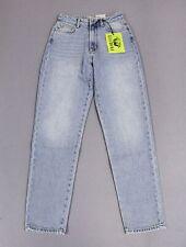 Fiorucci Women's Tara Angel Patch Tapered Leg Jeans HD3 Light Vintage Size 27