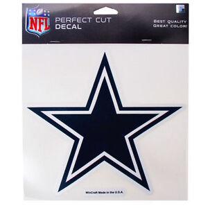 """Dallas Cowboys NFL 8""""x8"""" Decal Sticker Primary Team Logo Die Cut Car Auto"""