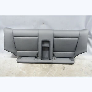 2008-2009 BMW E82 1-Series Coupe Rear Seat Bottom Bench Black Sensatec Vinyl OEM