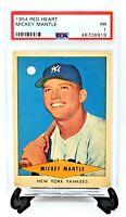 1954 Red Heart Yankees MICKEY MANTLE Baseball Card PSA Grade 1 Great Centering!