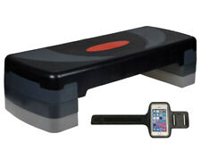 """30"""" Aerobic Step Trainer Exercise Fitness WorkoutStepper W/Free CellphoneArmBand"""
