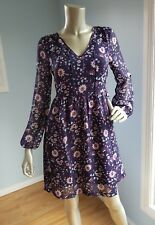 Jeanwest Sharon long sleeves floral dress size 6-8