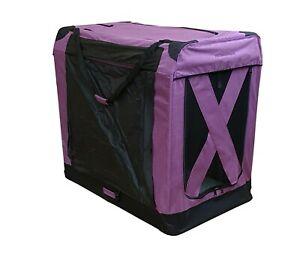 "Great Dane 54"" 100cm TALL BLUE Denim Folding Lightweight Travel Dog Soft Crate"