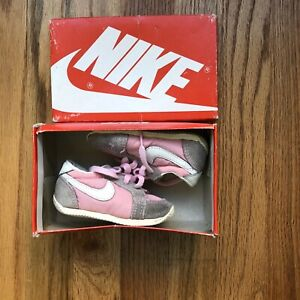 DS NIB 1985 80's OG Nike Scoots Cortez Bruins Gray Suede White Pink Sz Toddler 4