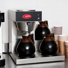 avantco c30 commercial coffee maker machine 3 pot warmer pourover 12 cup brewer - Commercial Coffee Makers