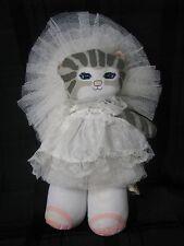APPLAUSE 1989 DUSTYN SCHEAR STUFFED PLUSH CLOTH KITTY CUCUMBER BRIDE WEDDING